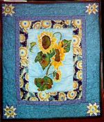Original Design HandQuilted Wallhanging. Designer:  Katie Darden; Owner:  Heather Bush